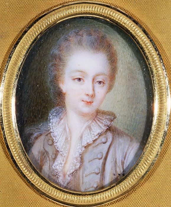 François Hubert Drouais -- Portrait of Mme Du Barry, bust-length, with powdered hair. Part 1 Louvre