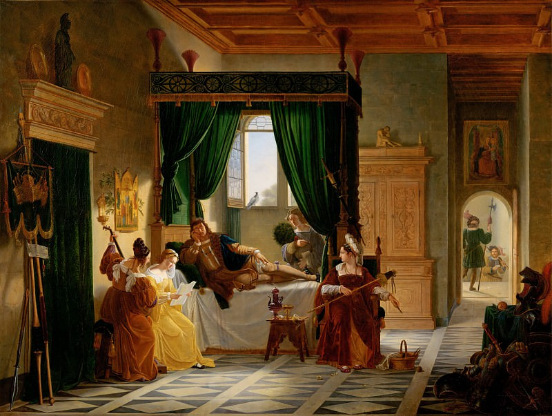 Pierre Henri Revoil (1776-1842) -- The Convalescence of Bayard (1476-1524). Part 1 Louvre