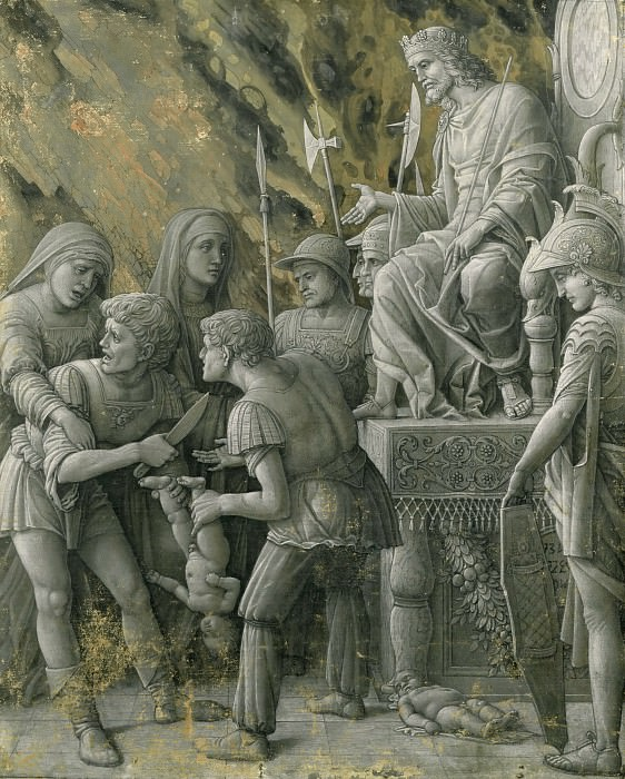 Andrea Mantegna -- Judgment of Solomon. Part 1 Louvre