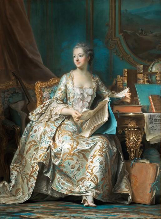 Maurice-Quentin de La Tour (1704-1788) -- Madame de Pompadour. Part 1 Louvre