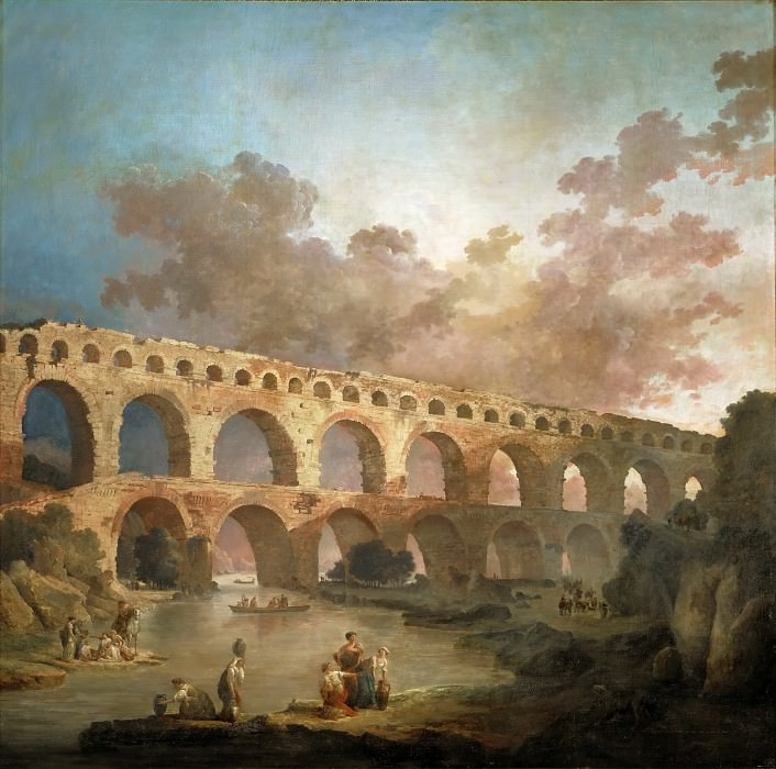 ROBERT, Hubert -- (b. 1733, Paris, d. 1808, Paris). Part 1 Louvre