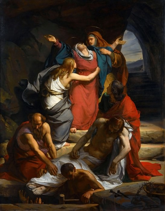 Эссе, Никола-Огюст (Париж 1795-1869) -- Обморок Богородицы. часть 1 Лувр