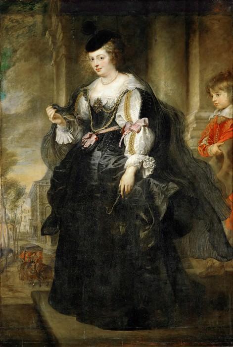 Peter Paul Rubens -- Hélène Fourment with Carriage. Peter Paul Rubens
