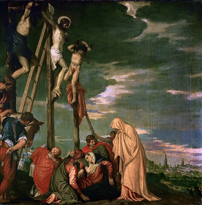 Paolo Veronese -- The Crucifixion. Part 1 Louvre