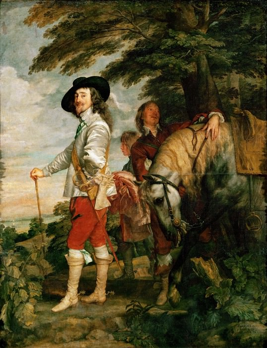 Anthony van Dyck -- Charles I (1600-1649) in the Hunting Field (Charles I, King of England, During a Hunting Party). Part 1 Louvre