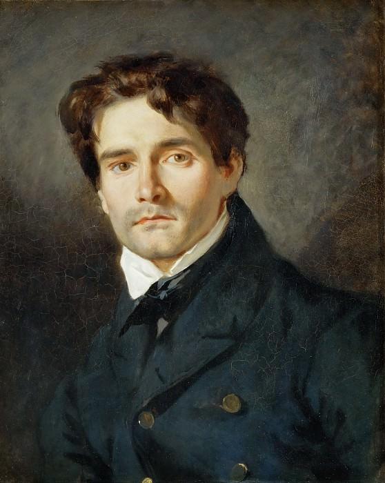 Delacroix, Eugene -- Portrait Leon Riesener. Canvas, 54 x 44 cm RF 1960-58. Part 1 Louvre