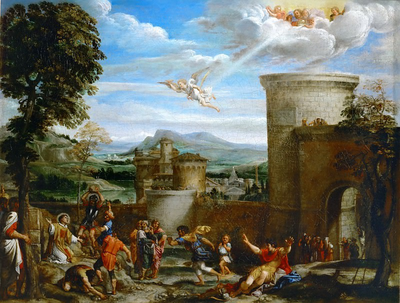 Annibale Carracci (1560-1609) -- Stoning of Saint Stephen. Part 1 Louvre
