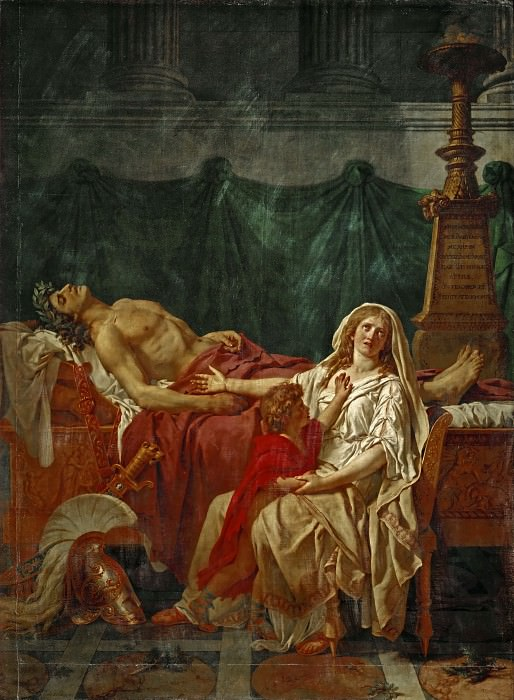 The sorrow of Andromache. Jacques-Louis David