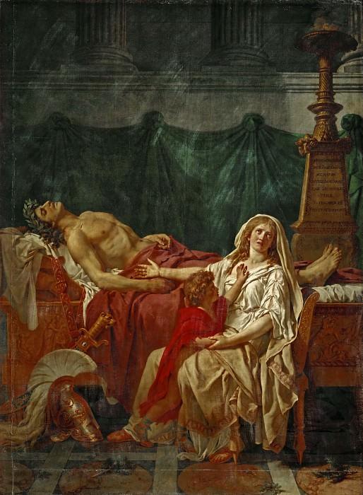David, Jacques Louis -- La douleur d'Andromache-The sorrow of Andromache. Painted 1783. Part 1 Louvre