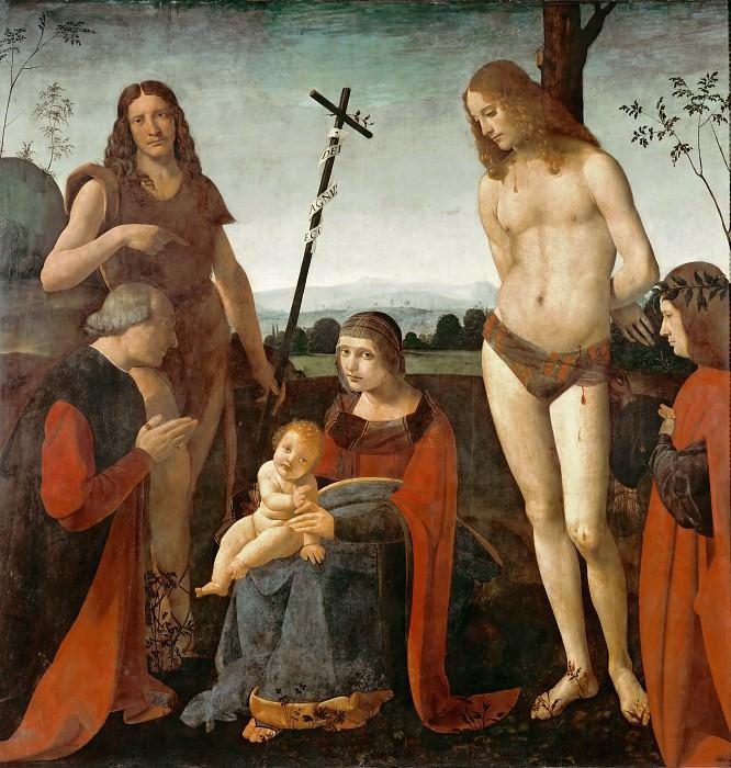 Giovanni Antonio Boltraffio -- Casio Madonna Altarpiece. Part 1 Louvre