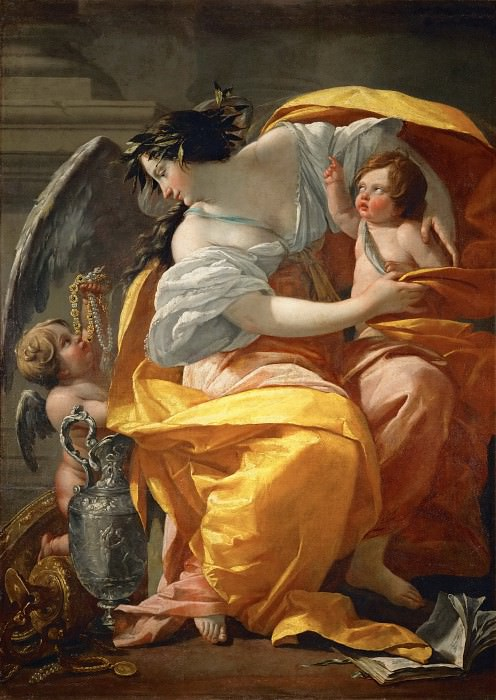 Simon Vouet -- Allegory of Wealth. Part 1 Louvre