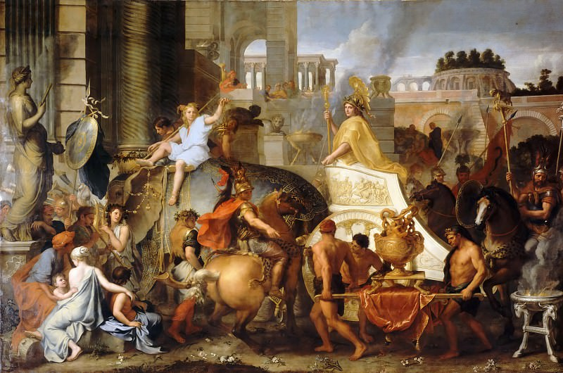 Charles Le Brun -- Entry of Alexander in Babylon (Triumph of Alexander). Part 1 Louvre