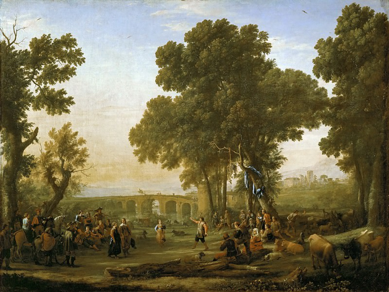 Claude Lorrain -- Village Festival. Part 1 Louvre