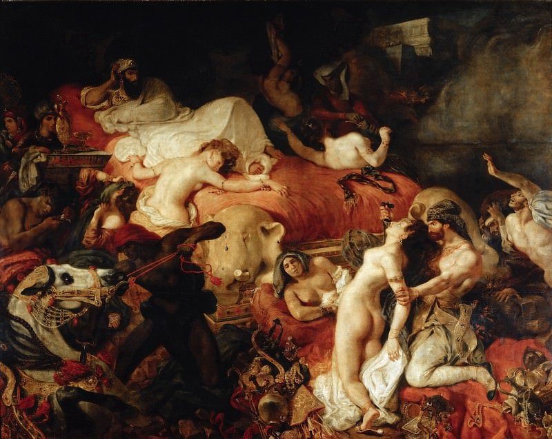 Делакруа, Эжен (1798 Шарантон-Сен-Морис - 1863 Париж) -- Смерть Сарданапала. часть 1 Лувр