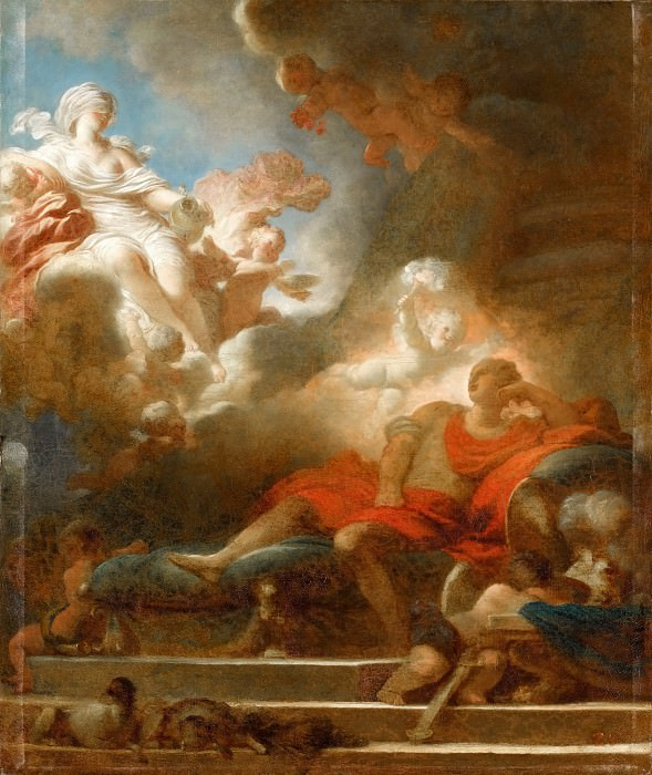 Jean-Honoré Fragonard -- Warrior's Dream of Love. Part 1 Louvre