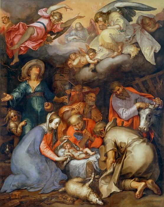Блумарт, Абрахам (1566 Горинхем - 1651 Утрехт) -- Поклонение пастухов. часть 1 Лувр