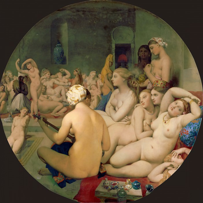 The Turkish Bath. Jean Auguste Dominique Ingres