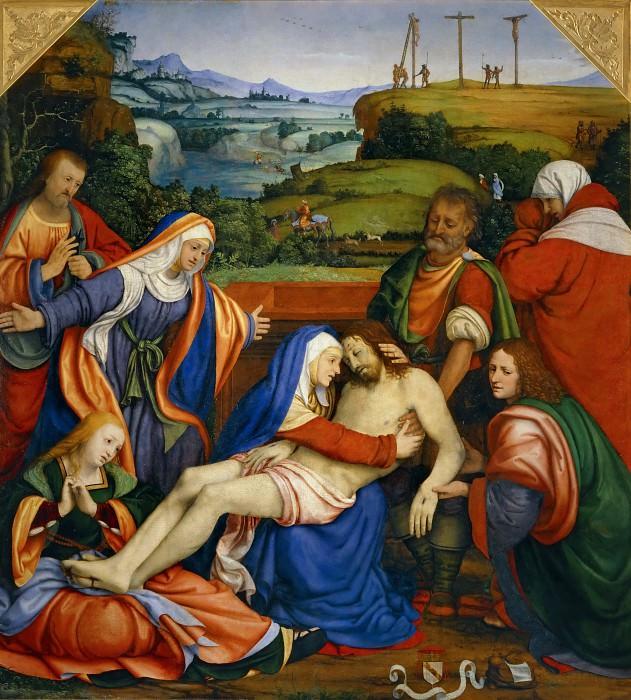Andrea Solario -- Lamentation over the Dead Christ. Part 1 Louvre