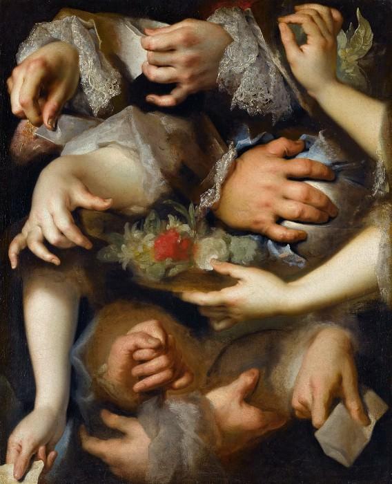 Nicolas de Largillière -- Study of Hands. Part 1 Louvre