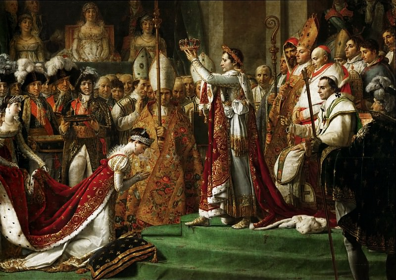 The Coronation of the Napoleon and Joséphine in Notre-Dame Cathedral on December 2, 1804. Jacques-Louis David