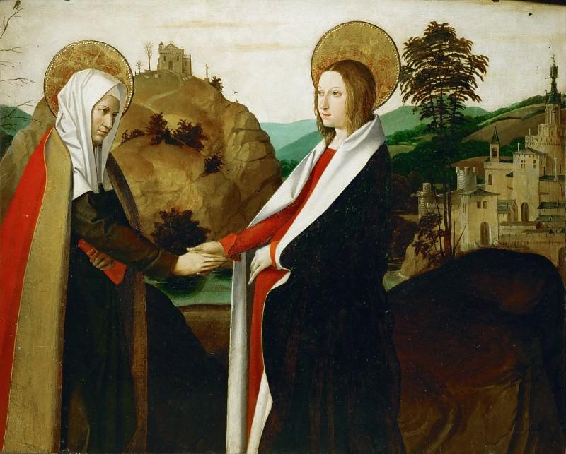 Master of Saint Sebastian -- Visitation. Part 1 Louvre