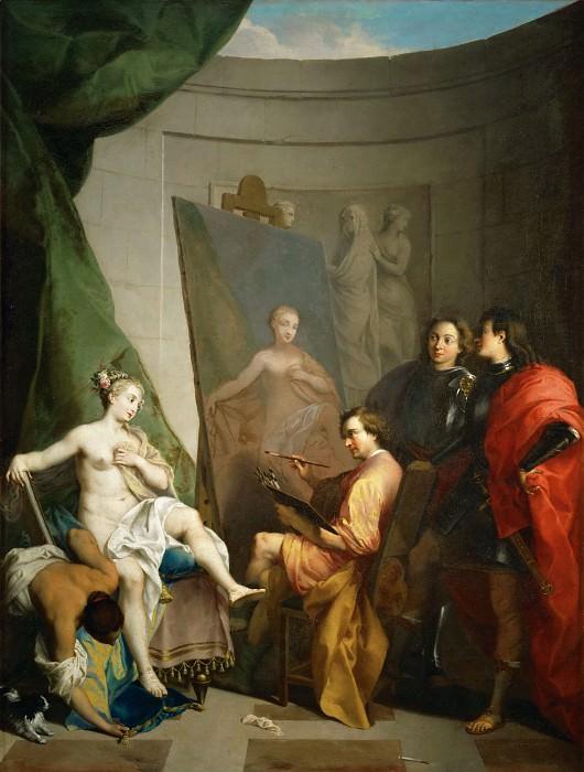 Влегель, Никола (1668 Париж - 1737 Рим) -- Апеллес, пишущий Кампаспу. часть 1 Лувр