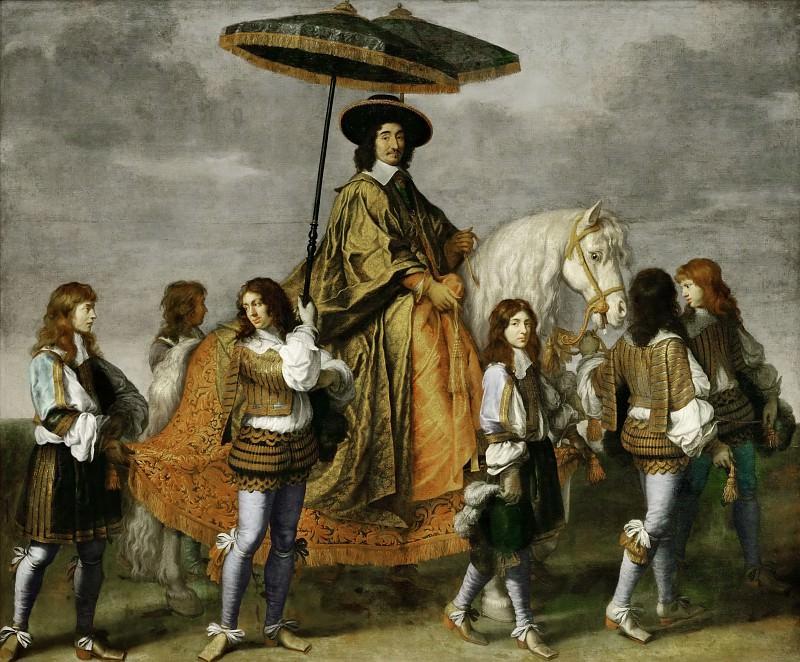 Charles Le Brun -- Chancellor Pierre Seguier on Horseback. Part 1 Louvre