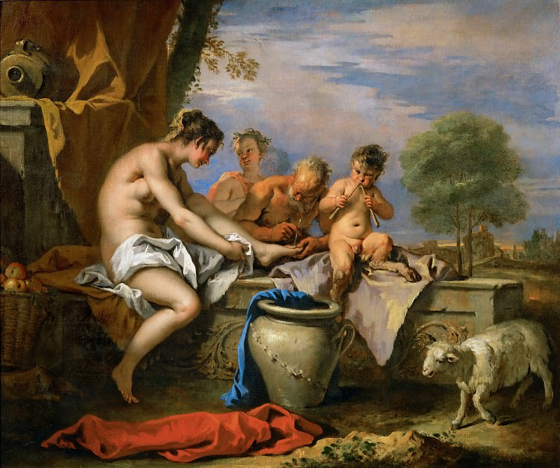 Sebastiano Ricci (1659-1734) -- Nymph and Satyrs. Part 1 Louvre