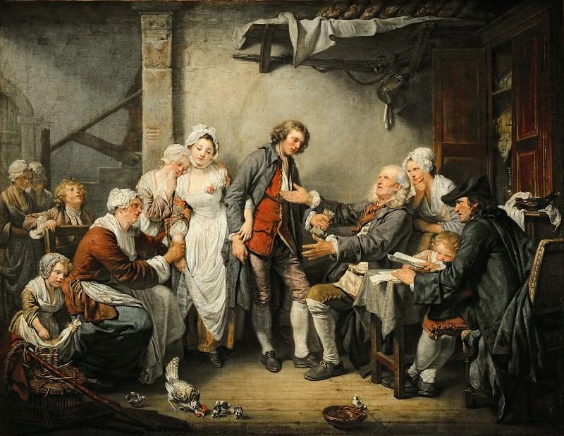 Грёз, Жан-Батист (1725 Турню - 1805 Париж) -- Деревенская помолвка. Part 1 Louvre