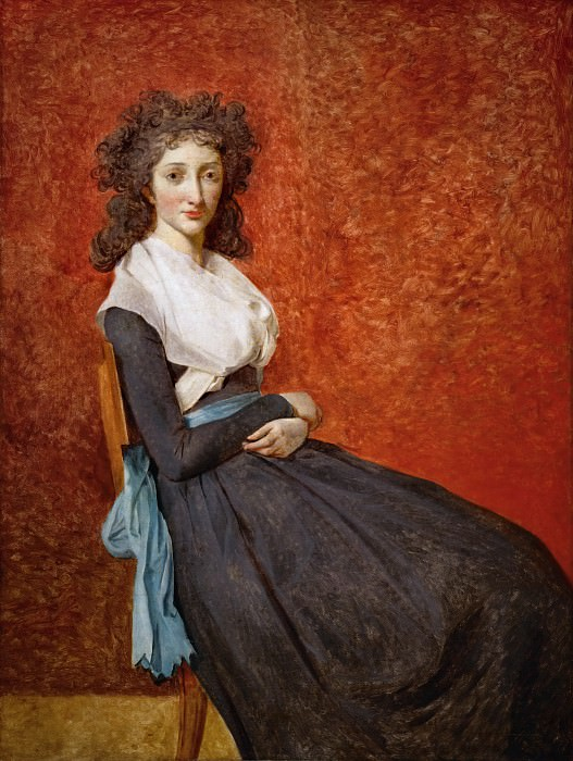 David, Jacques Louis -- Mme. Charles-Louis Trudaine (1769-1802) Canvas, 130 x 98 cm R.F. 670. Part 1 Louvre