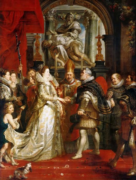 Рубенс, галерея Медичи, 1622-24 -- Брак по договоренности. Part 1 Louvre