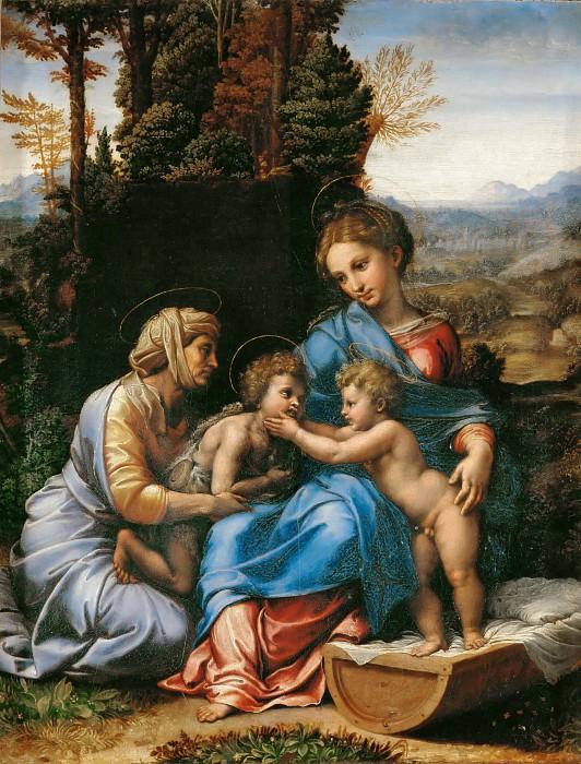 Рафаэль (Рафаэлло Санцио) (мастерская) (1483 Урбино - 1520 Рим) -- Святое Семейство. часть 1 Лувр