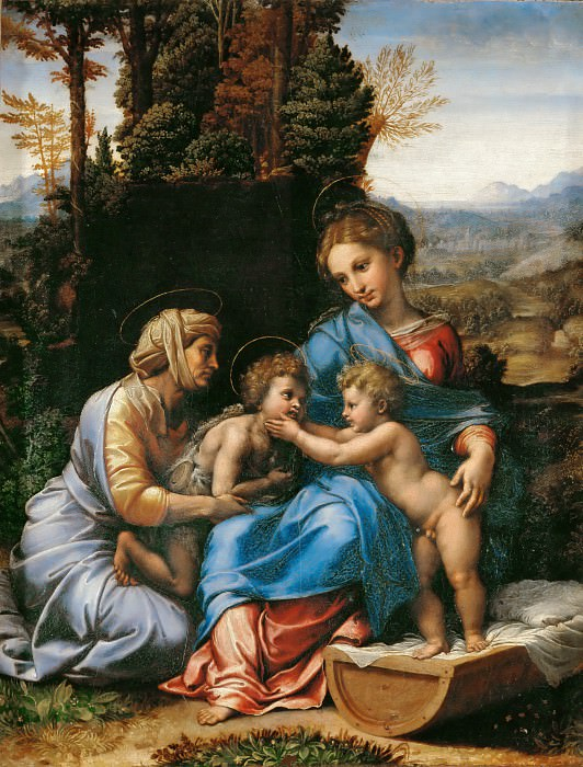 The Holy Family. Raffaello Sanzio da Urbino) Raphael (Raffaello Santi