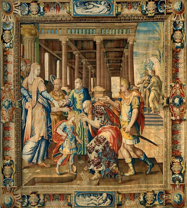 Карон, Антуан (1521 Бове - 1599 Париж) -- Гобелен по дизайну Карона - Сцена из легенды об Артемизии. часть 1 Лувр