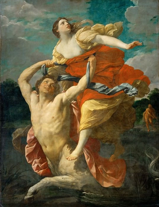 Deianeira Abducted by the Centaur Nessus. Guido Reni