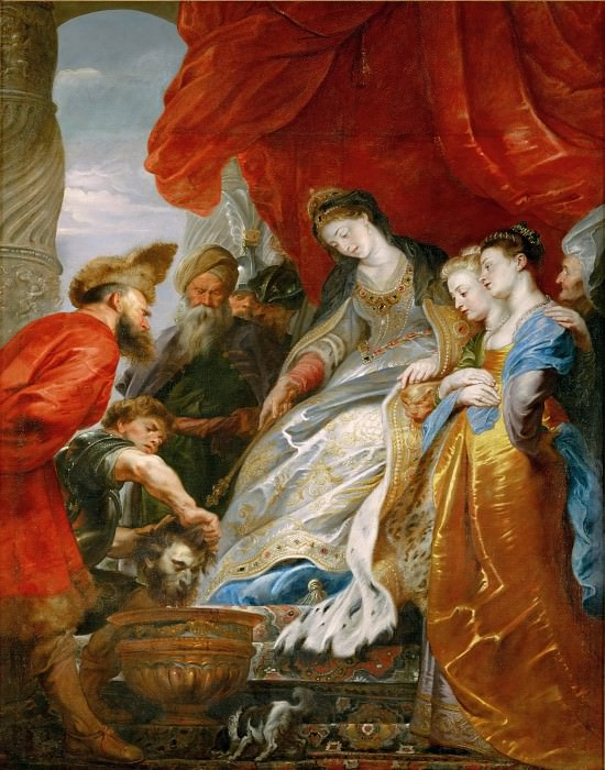 Tomyris Orders Cyrus s Head Lowered into a Vessel of Blood. Peter Paul Rubens