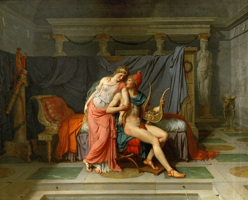 Давид, Жак-Луи (1748 Париж - 1825 Брюссель) -- Парис и Елена. Part 1 Louvre