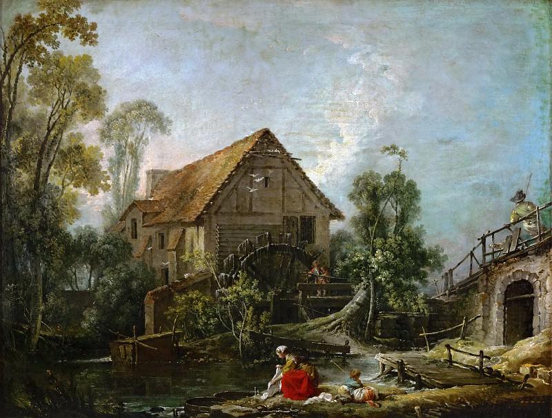 Landscape with a Mill. Francois Boucher