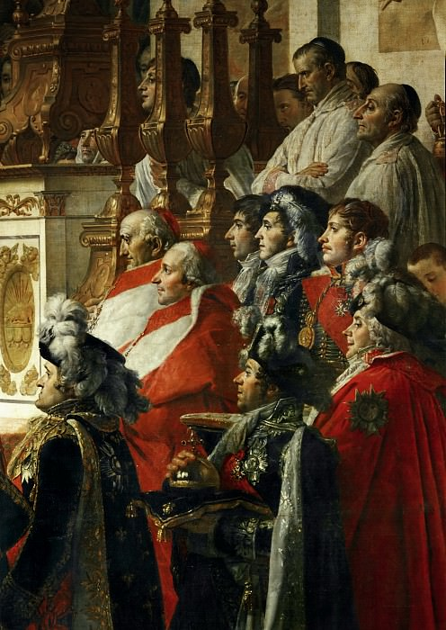 David, Jacques Louis -- The Coronation of the Napoleon and Joséphine in Notre-Dame Cathedral on December 2, 1804. Part 1 Louvre