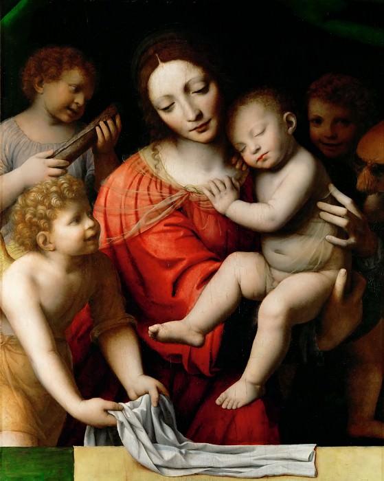 Bernardino Luini -- Sleep of the Child Jesus. Part 1 Louvre