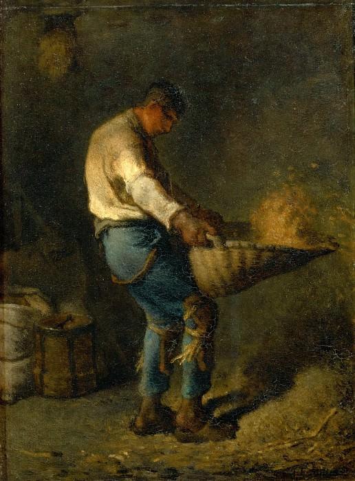 Millet, Jean-Francois -- Un Vanneur, Salon 1848 38, 5 x 29 cm R.F.1440. Part 1 Louvre