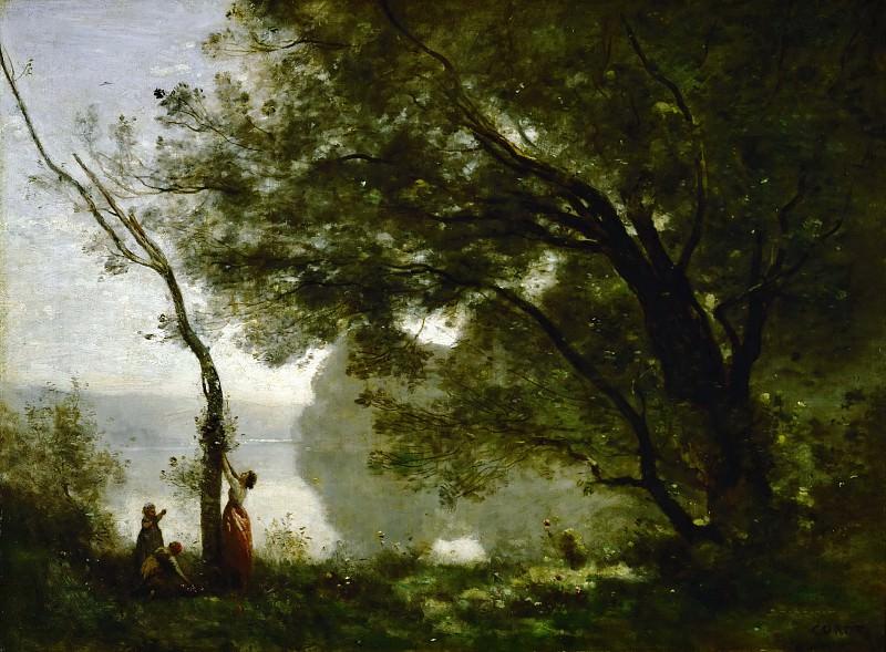 Коро, Жан-Батист-Камиль (Париж 1796-1875) -- Воспоминание о Мортефонтене, 1864, 65х89. часть 1 Лувр
