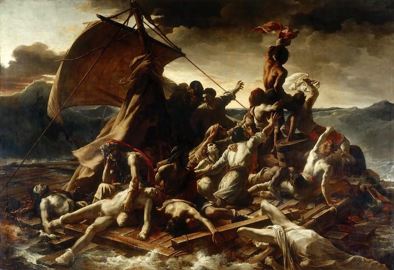 Жерико, Теодор (1791 Руан - 1824 Париж) -- Плот Медузы. часть 1 Лувр