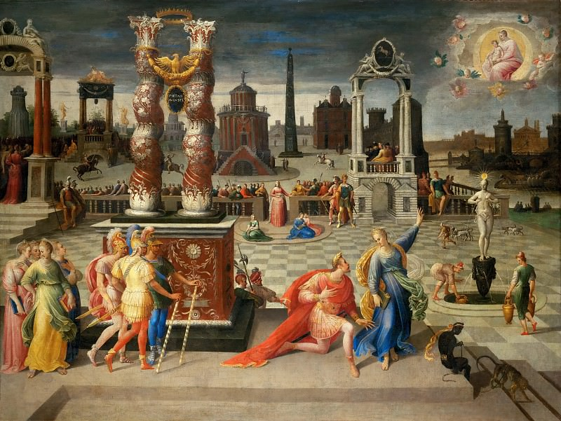 Antoine Caron (1521-1599) -- Augustus and the Tiburtine Sibyl. Part 1 Louvre