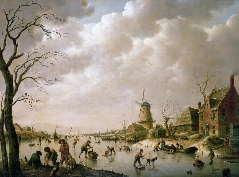 Швейкхардт, Генрих Вильгельм (1746 Хамм, Вестфалия - 1797 Лондон) -- Забавы на замерзшем канале. Part 1 Louvre