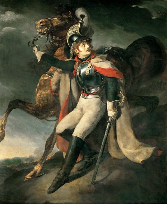 Théodore Géricault -- Wounded Dragoon Leaving Cross Fire. Part 1 Louvre