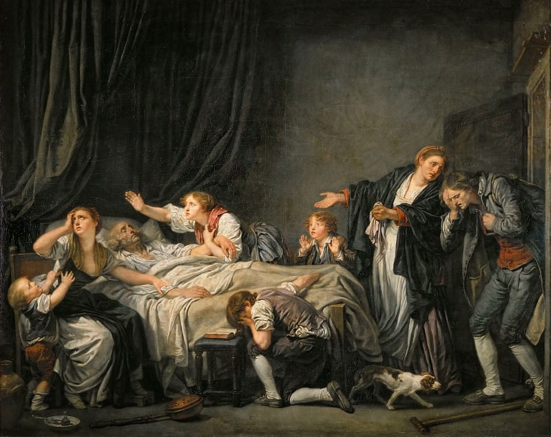 Jean-Baptiste Greuze (1725-1805) -- The Punished Son. Part 1 Louvre