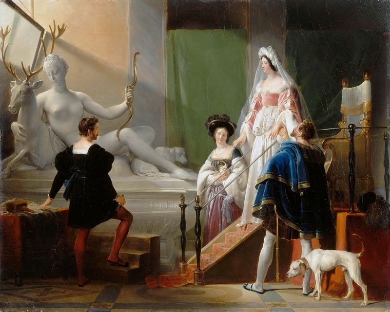 Alexandre-Evariste Fragonard -- Diane de Poitiers in the Studio of Jean Goujon. Part 1 Louvre