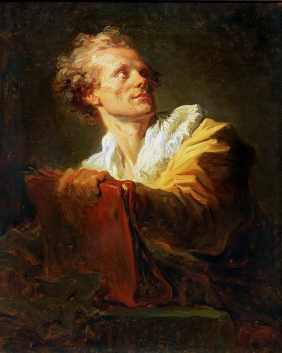 Portrait of a young artist. Jean Honore Fragonard