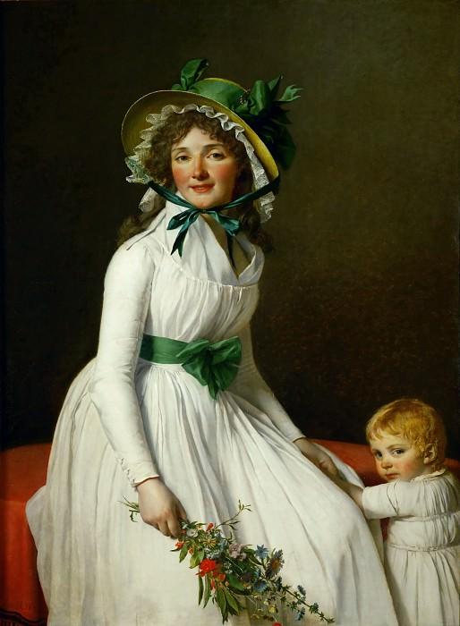 Mme. Seriziat and her son. Jacques-Louis David
